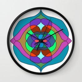 dark colors mandalas Wall Clock