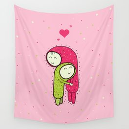 Huggy Huggers Wall Tapestry
