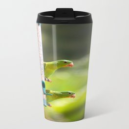 green parrots Travel Mug