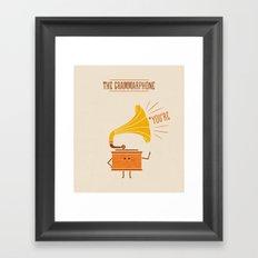 Grammarphone Framed Art Print