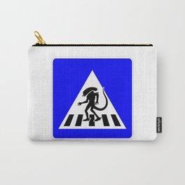 Alien Crosswalk Sign 3 Carry-All Pouch