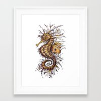 seahorse Framed Art Prints featuring Seahorse by TAOJB