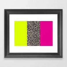 Leopard National Flag X Framed Art Print