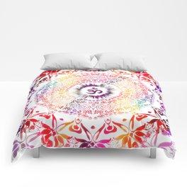 Radiant Om Mandala Comforters