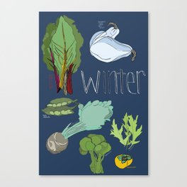 Fresh from the Farmers Market: Winter Canvas Print