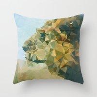 lion Throw Pillows featuring Lion by Esco