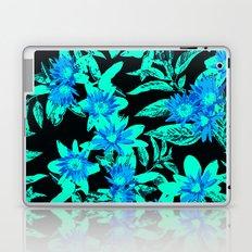 Bright Blue Vintage Blooms Laptop & iPad Skin