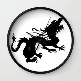 Dragon Silhouette 2 Wall Clock
