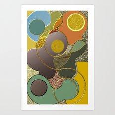 Modern Metallic Geometric Abstract Art Print