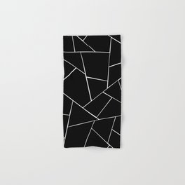 Black White Geometric Glam #2 #geo #decor #art #society6 Hand & Bath Towel