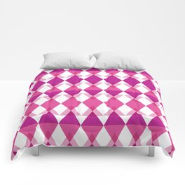 Pink Triangle Pattern Comforters