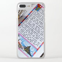 Far over the Misty mountains cold Clear iPhone Case