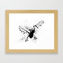 Inky Bat Framed Art Print