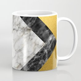 Gold foil white black marble #5 Coffee Mug
