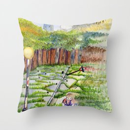 Slipping Away: Even Giants Fall Throw Pillow