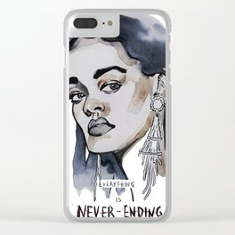 Rihanna Clear iPhone Case