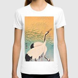 Ohara Koson - Top Quality Art - Two Japanese Crane T-shirt