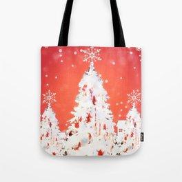 Three White Christmas Trees | Nadia Bonello Tote Bag