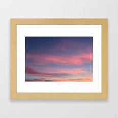 Pink sky in evening Framed Art Print