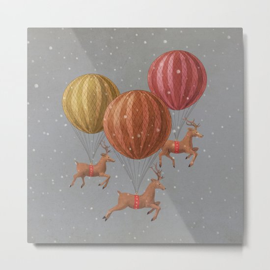 Flight of the Deer - colour option Metal Print