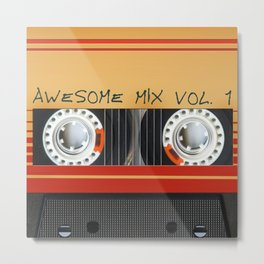 Awesome Mix Cassette Vol.1 Metal Print