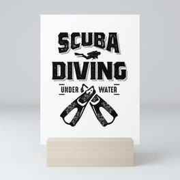 Funny Scuba Diving For Divers Mini Art Print