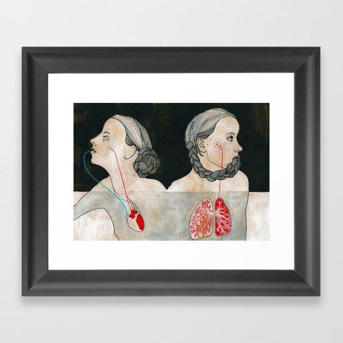 ikizler (twins) Framed Art Print