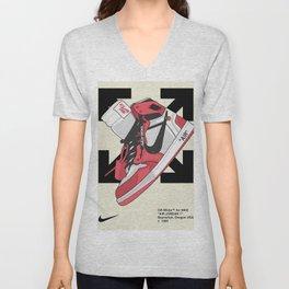 Jordan 1 off white Poster Unisex V-Neck