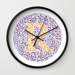 """R"" Eye Test Letter Circle Wall Clock"