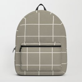 Gray Grey Alabaster Grid Backpack