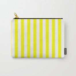 Vertical Stripes (Yellow/White) Carry-All Pouch
