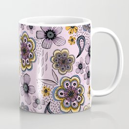 Floral paisley pattern, flowers and paisley surface pattern Coffee Mug