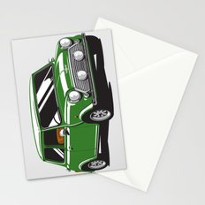 Mini Cooper Car - British Racing Green Stationery Cards