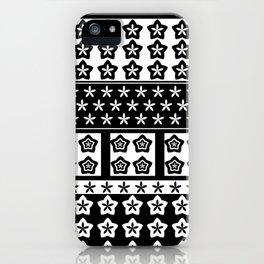 Japanese Style Kawaii Stars Patchwork iPhone Case