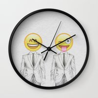 suit Wall Clocks featuring Suit & Tie  by BTP Designs