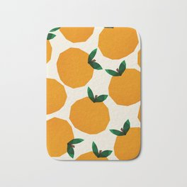 Abstraction_Orange_Fruit Bath Mat
