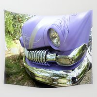 ford Wall Tapestries featuring 1951 Ford Mercury by Chris' Landscape Images & Designs