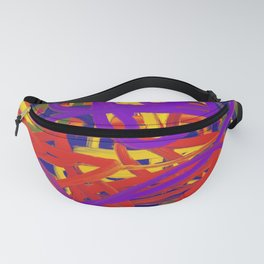 Muted Rainbow Abstract Fanny Pack