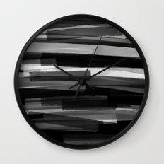 Black Stripes Wall Clock