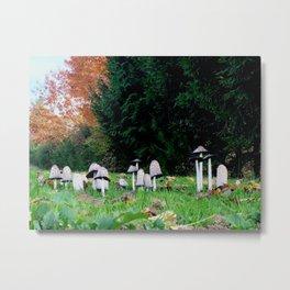 Family of Mushrooms Metal Print