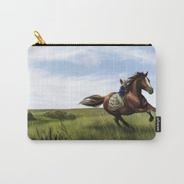 Prairie Girl on Horse Carry-All Pouch