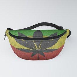Rastafarian Flag with Marijuana Leaf Fanny Pack