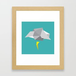 A Cloudy Day in April Framed Art Print