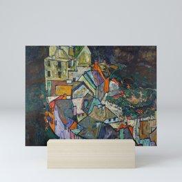"""Egon Schiele """"Stadtende Häuserbogen III"""" Mini Art Print"""