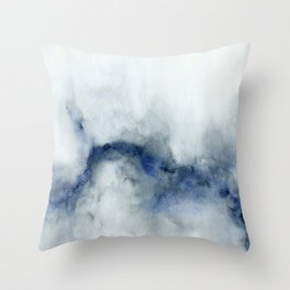 Indigo Abstract Painting | No.3 Throw Pillow