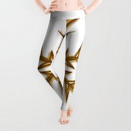 Minimalistic Golden Snowflake Leggings