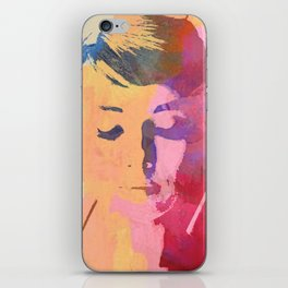 water color portrait iPhone Skin