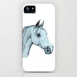 Arab Horse Pencil Drawing iPhone Case