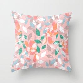 Pretty foliage brush paint design Throw Pillow