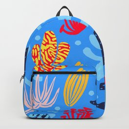 light blue funny underwater plants Backpack